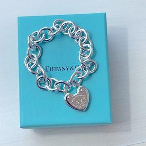 Return to Tiffany & Co. Heart Lock Bracelet-NEW